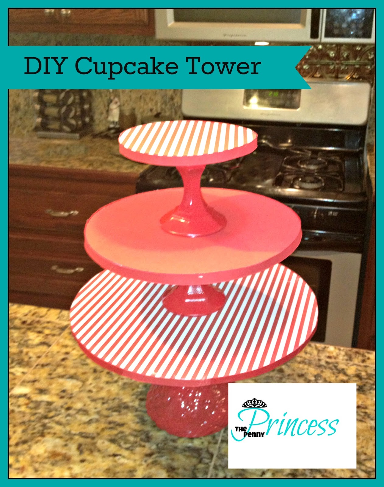 Homemade Cupcake Tower