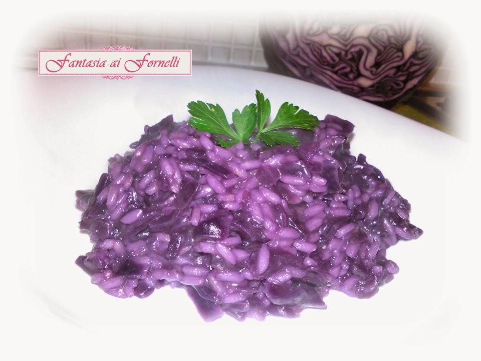 risotto magico con cavolo verza viola