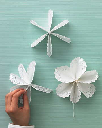 Craft Ideas Doilies on Three Steps To A Paper Flower Again From Martha Stewart