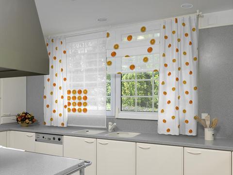 Decoraci n de interiores decora la ventana de la cocina for Cortinas para cocina precios