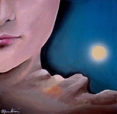 viso donna dipinti orme magiche quadro disegno pittura spirituale arte zen