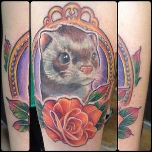 Tatuaje de huron, http://distopiamod.blogspot.com