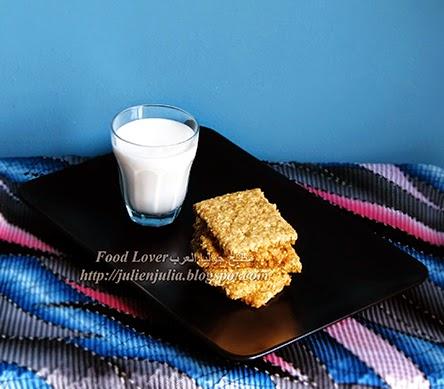 Homemade Eggless Digestive Biscuits طريقة بسكوت الدايجستف بالمنزل