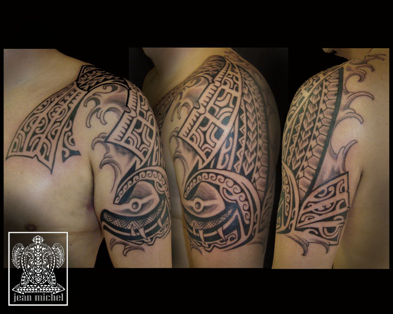 30 photos de tatouage de Bernard Lompre polynésiens
