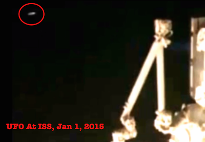 NASA Captures Disc UFO Near Space Station 2015, UFO Sightings