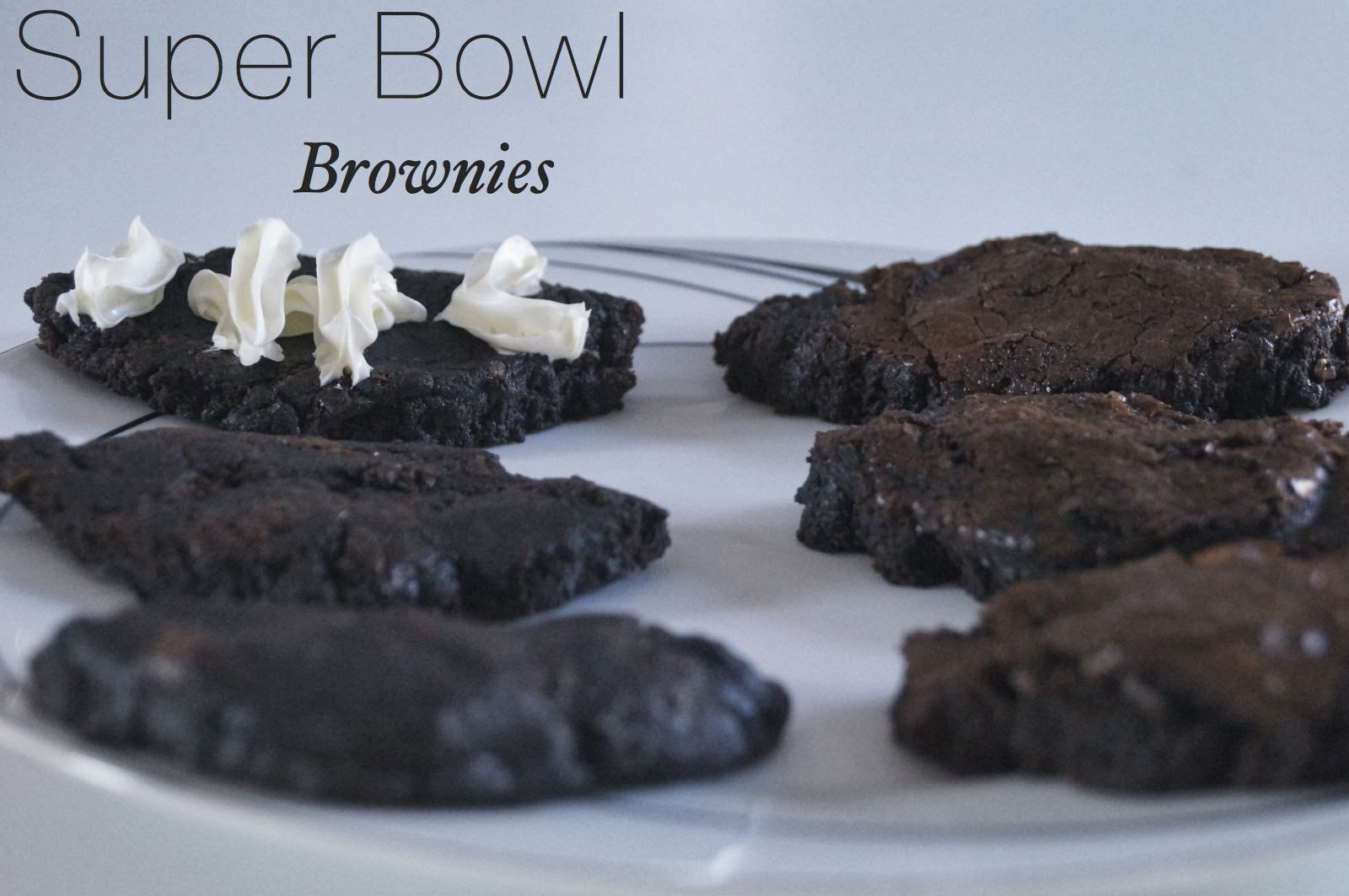 Super Bowl Brownie desserts