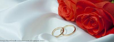 Couverture facebook félicitation mariage