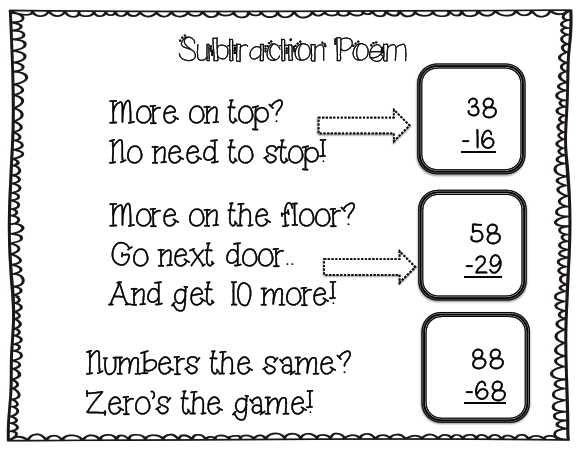 math worksheet : stellar students take me out to the ballgame subtraction freebies : Poem Math Addition Subtraction Multiplication Division