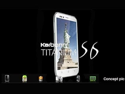 Karbonn Titanium S6: 5 inch,1.3 GHz Quad-core  Android Phone Specs, Price
