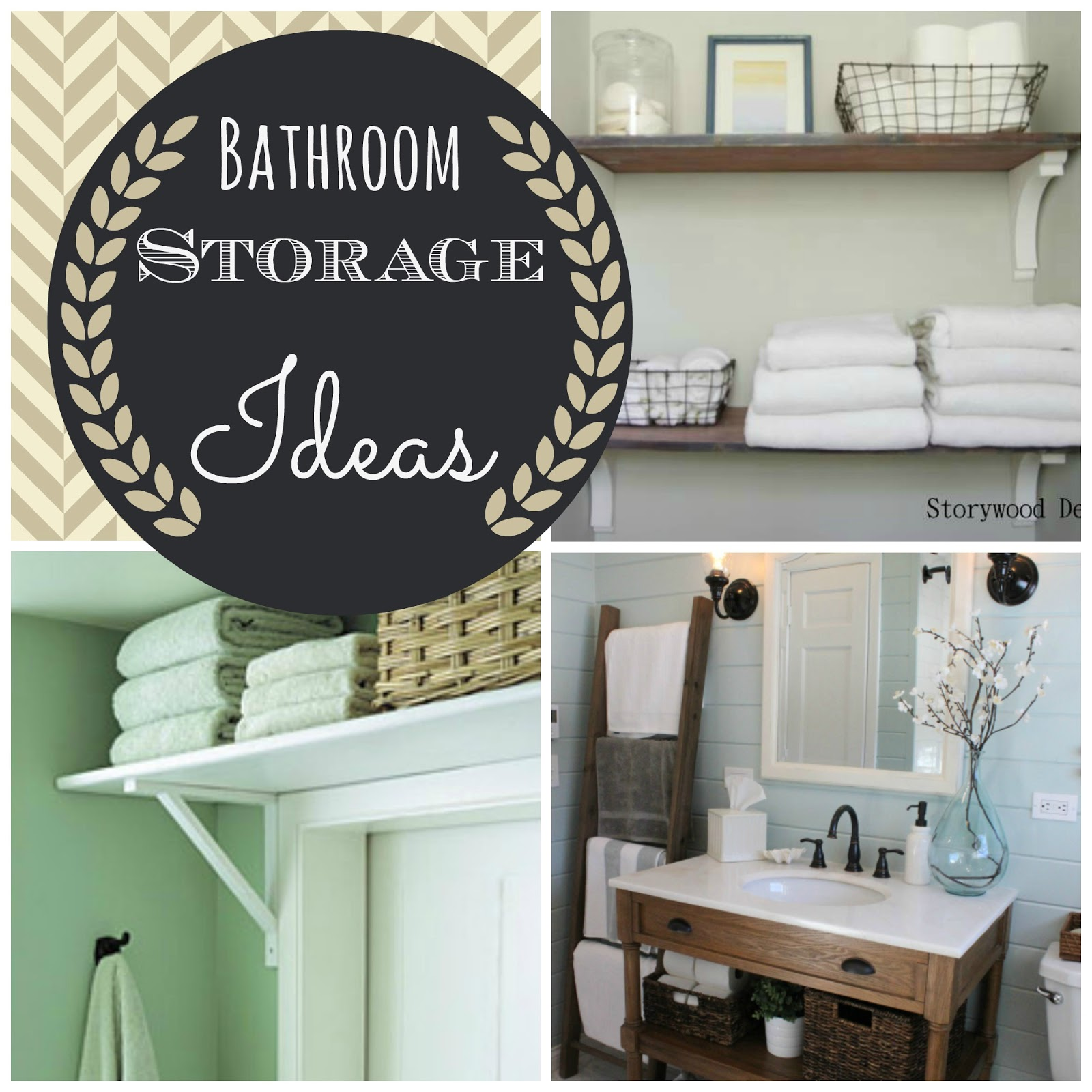 Couches and Cupcakes Inspiration Small Bathroom Storage Ideas