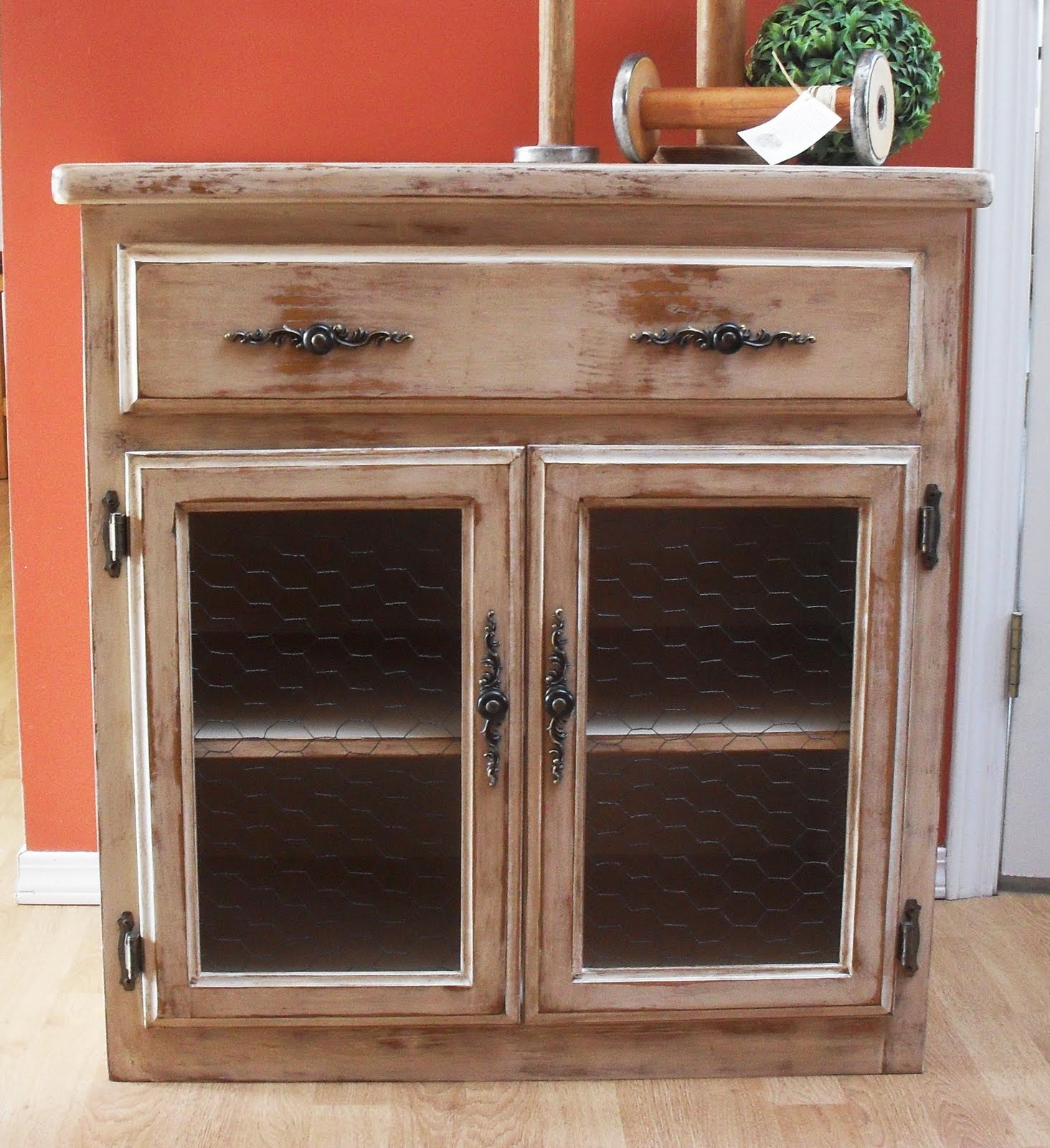 Distressed Kitchen Cabinet Doors: Home Frosting: Distressed Cabinet