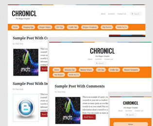 chronicle responsive blogger template