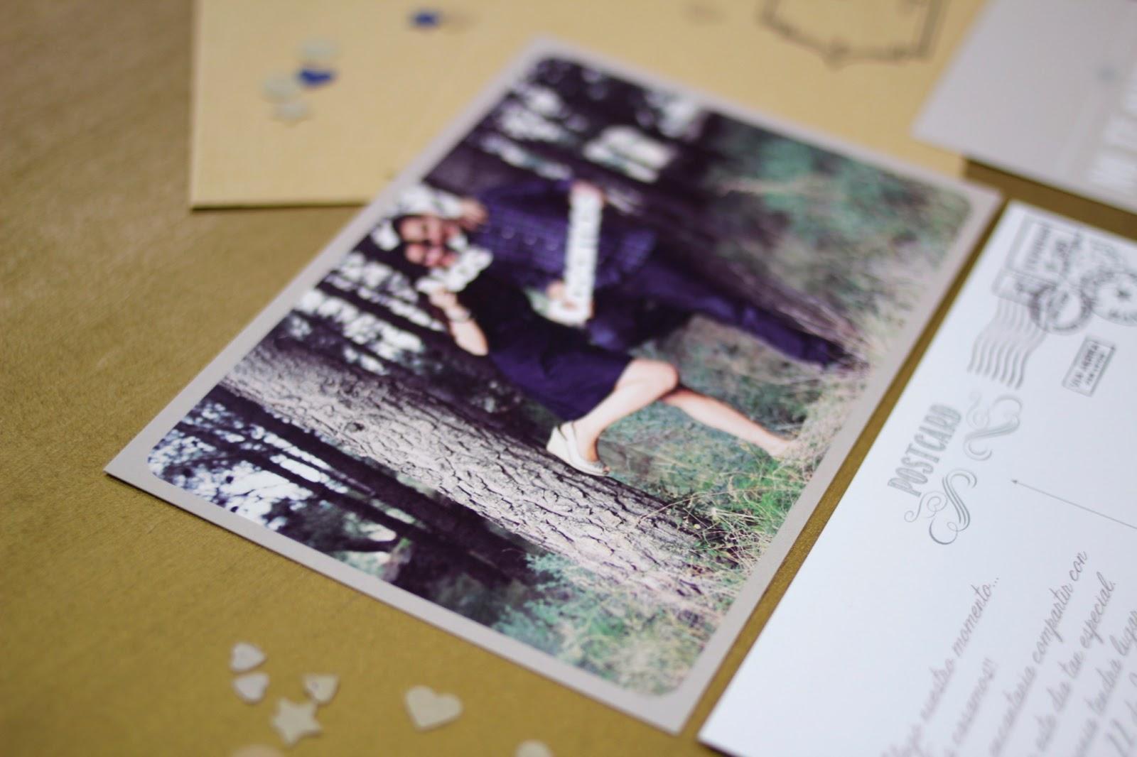 de boda originales postal con foto hermanas bolena