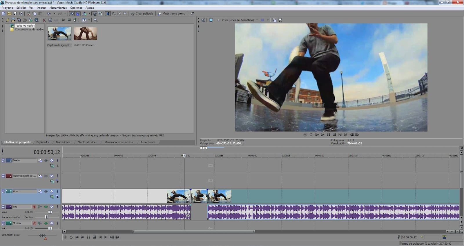 AYTUTO: Congelar la imagen en SONY VEGAS STUDIO HD