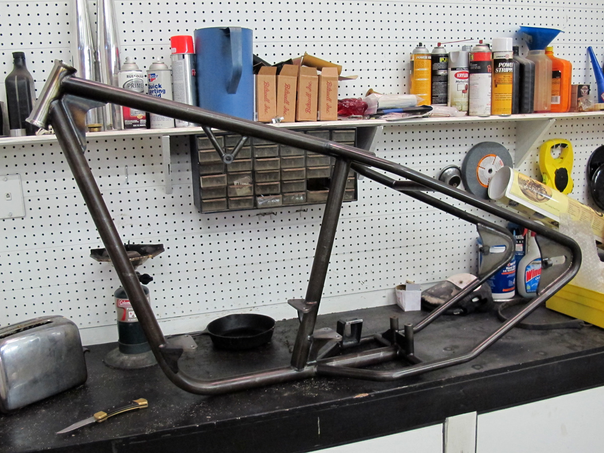 Lowbrow Customs Blog-O-Rama: Mullins Chain Drive Frame for Shovel ...