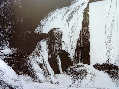 Viento en la Tarde, aguafuerte por Hopper
