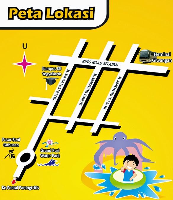 Peta Lokasi Waterboom Bantul