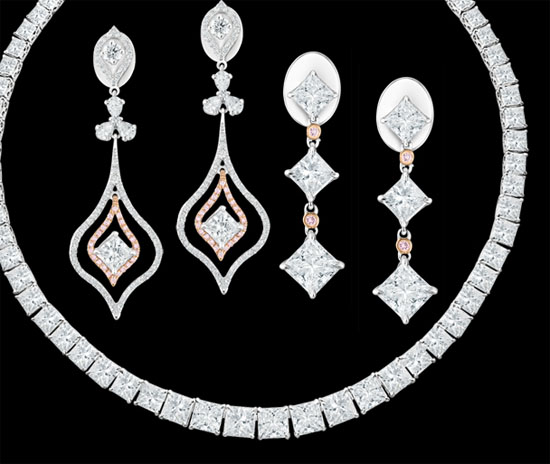 Modern Brilliant Princess Cut Diamonds