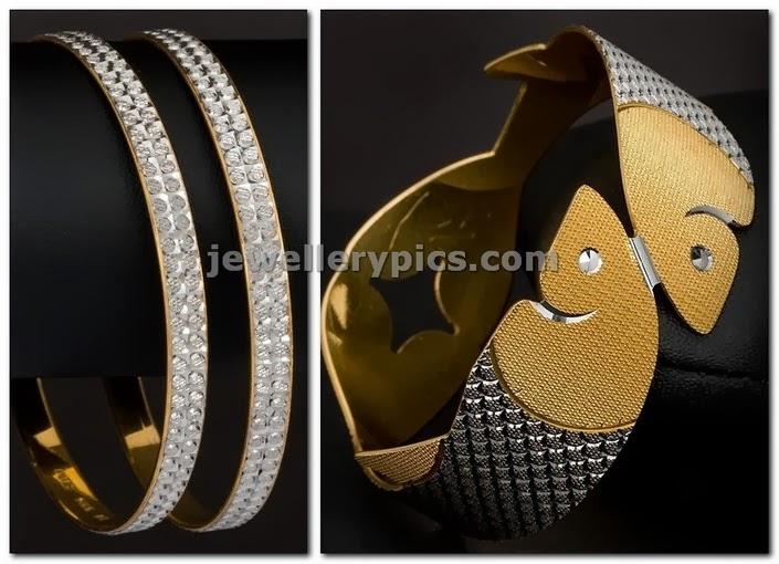 designer rhodium bangles by swarnamahal