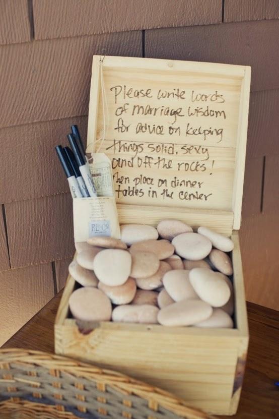 unas piedras originales para recordar a tus invitados de boda