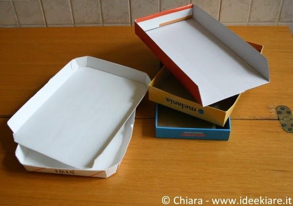 Come tenere in ordine la scarpiera con materiale di recupero