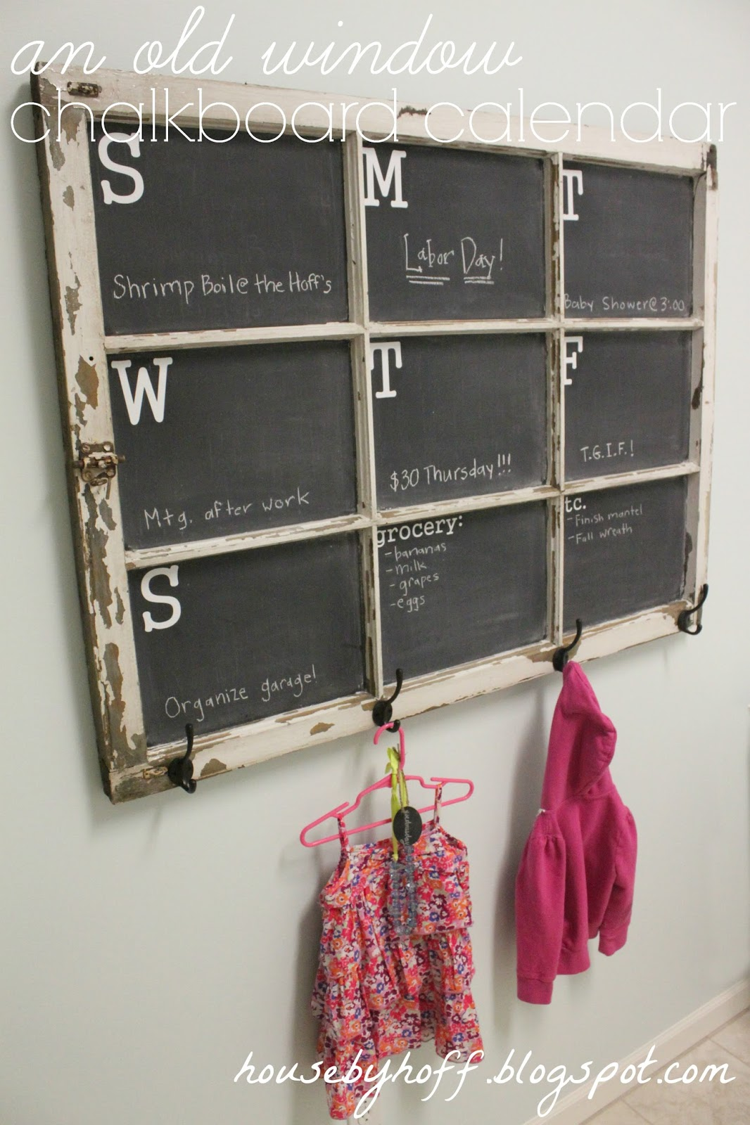Chalkboard Window Calendar