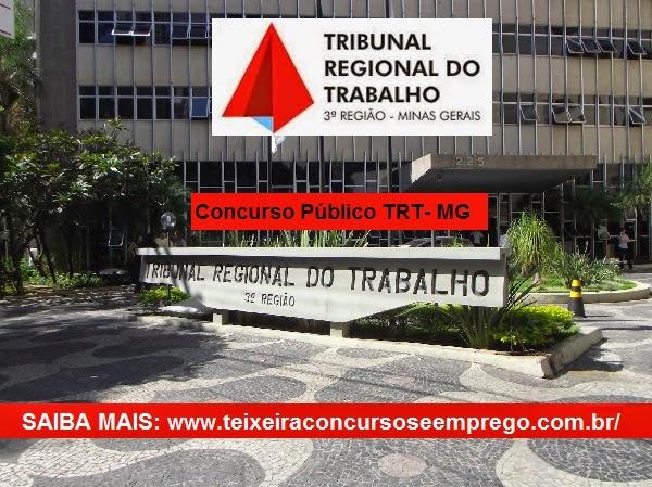 Concurso TRT da 3º Região de MG 2015 - Tribunal Regional do Trabalho/MG