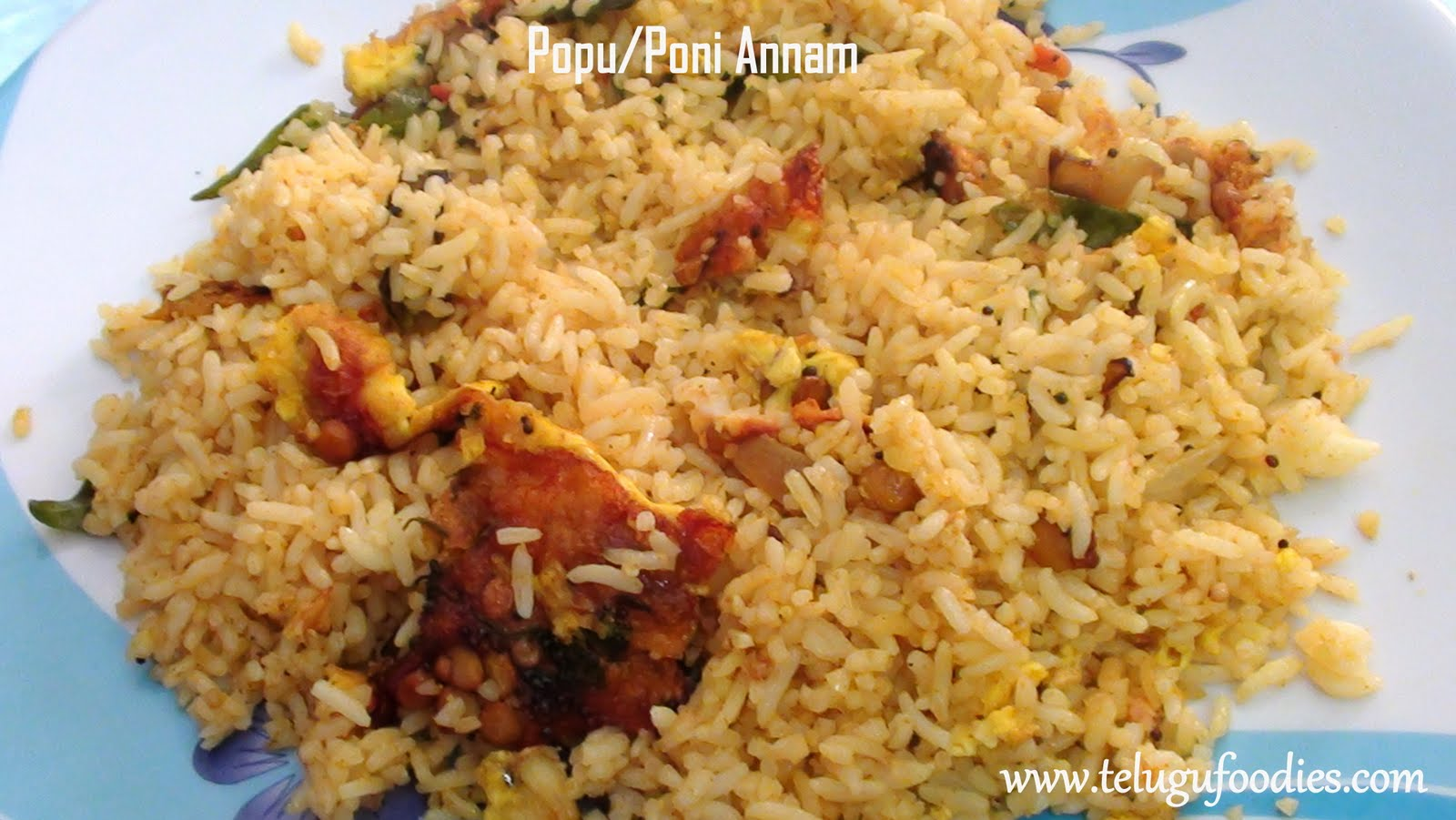 Poni annam telugu fried rice homemade telugu recipes ccuart Choice Image