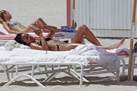 Karrueche Tran relaxing at Miami Beach
