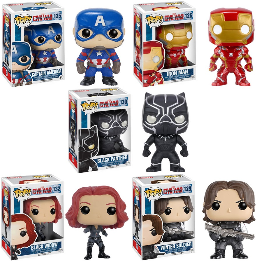 Image result for captain america civil war pop vinyl