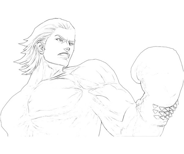 Coloring Pages of Steve Fox Tekken
