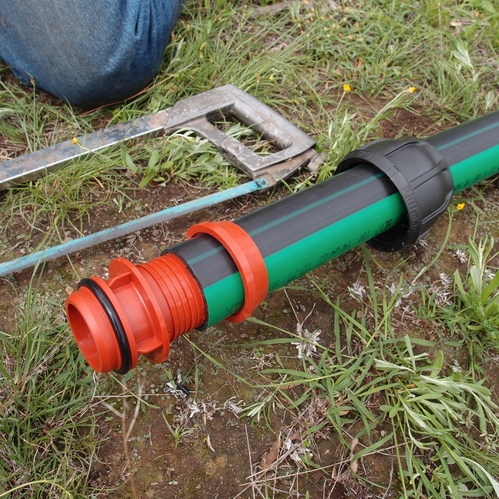 eight acres: how to use ag pipe compression fittings