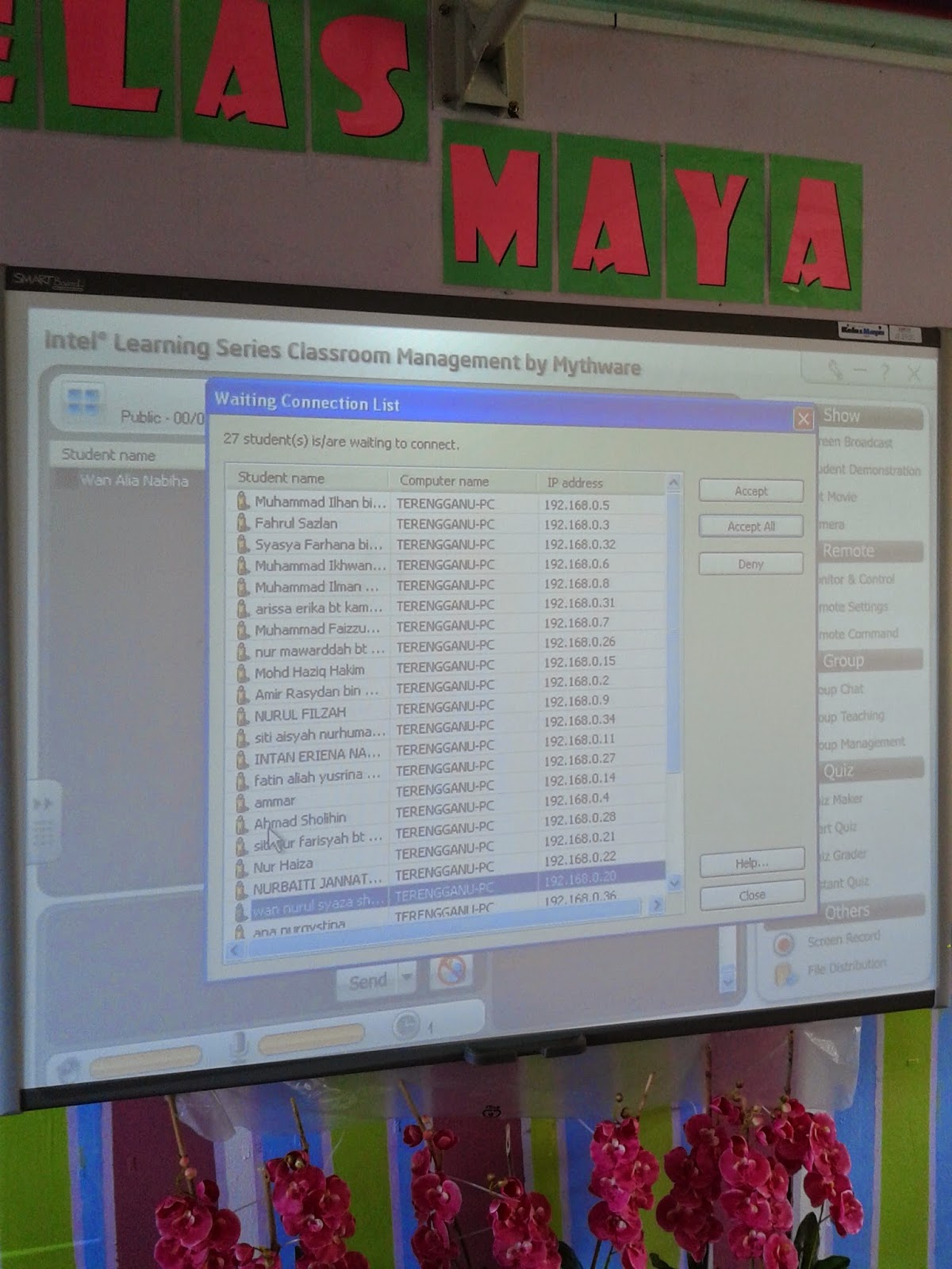 perisian kelas maya yang digunakan