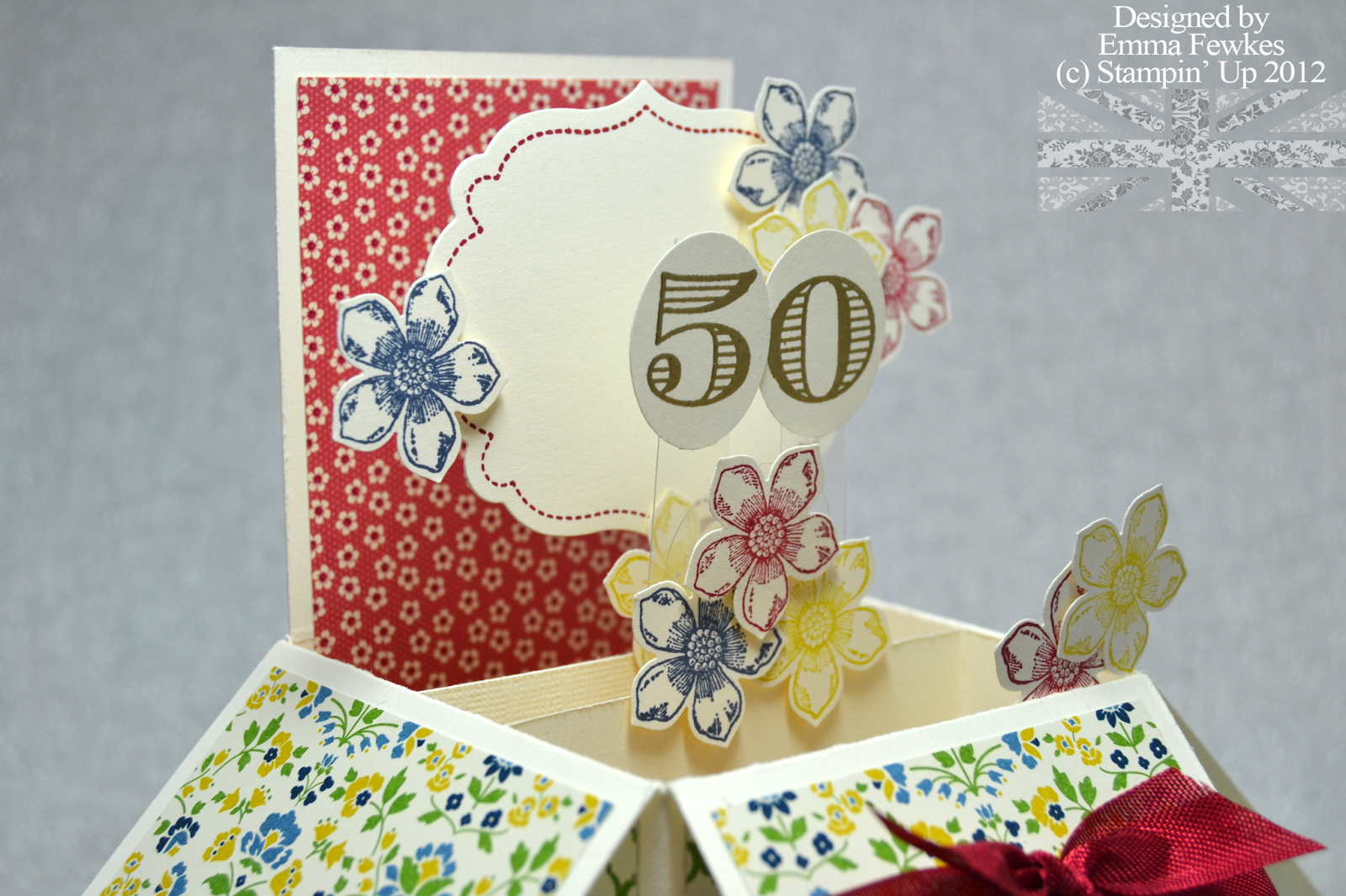 Lady the Stamp 50th Birthday Pop Up Card – Sister 50th Birthday Cards