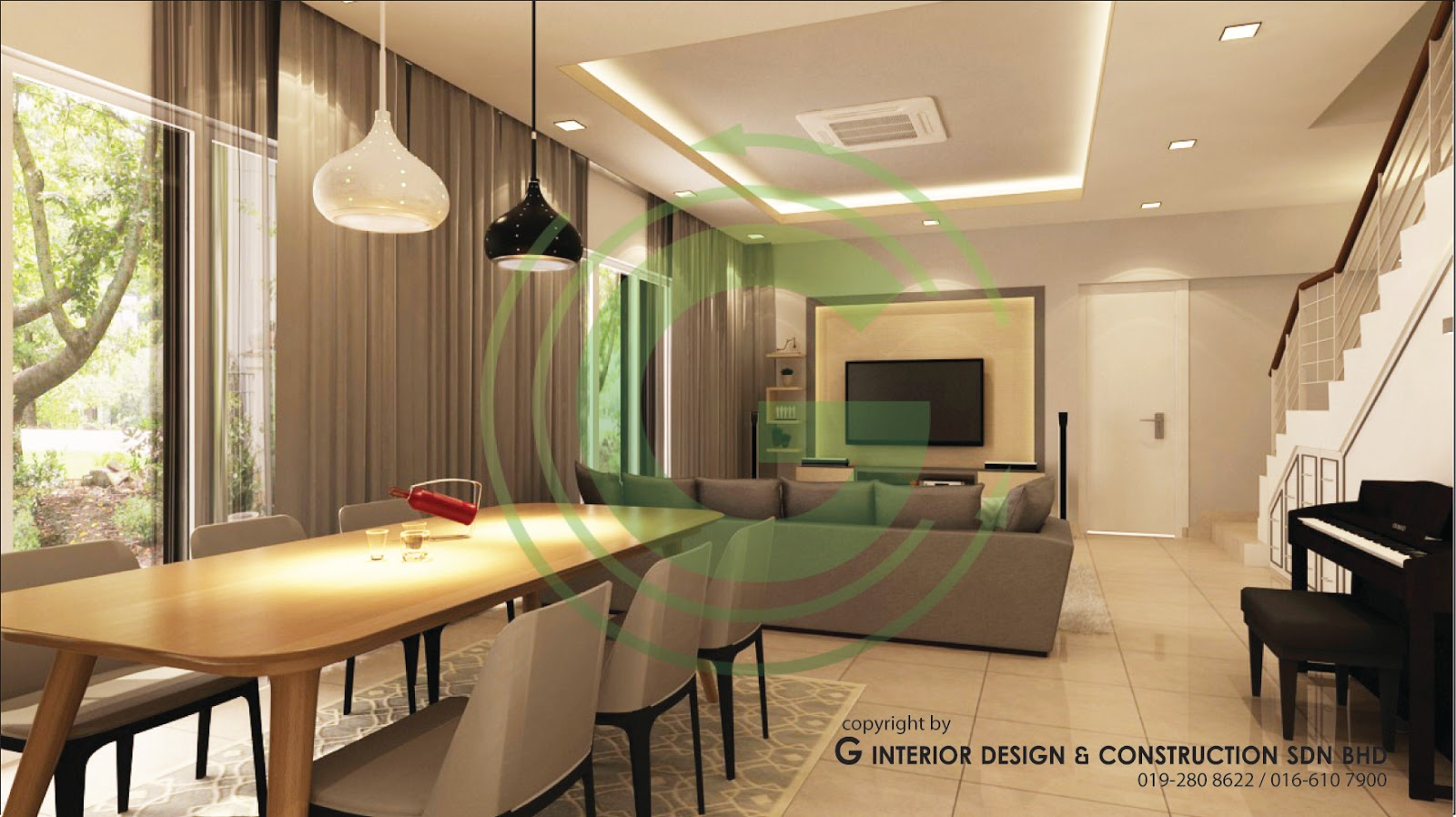 interior design double storey house malaysia with Double Story 3d Design Living Hall on Semi D House Plan as well 2 Storey Corner House Design moreover 5360 together with Custom Home Design as well Tropical House Plans Philippines.