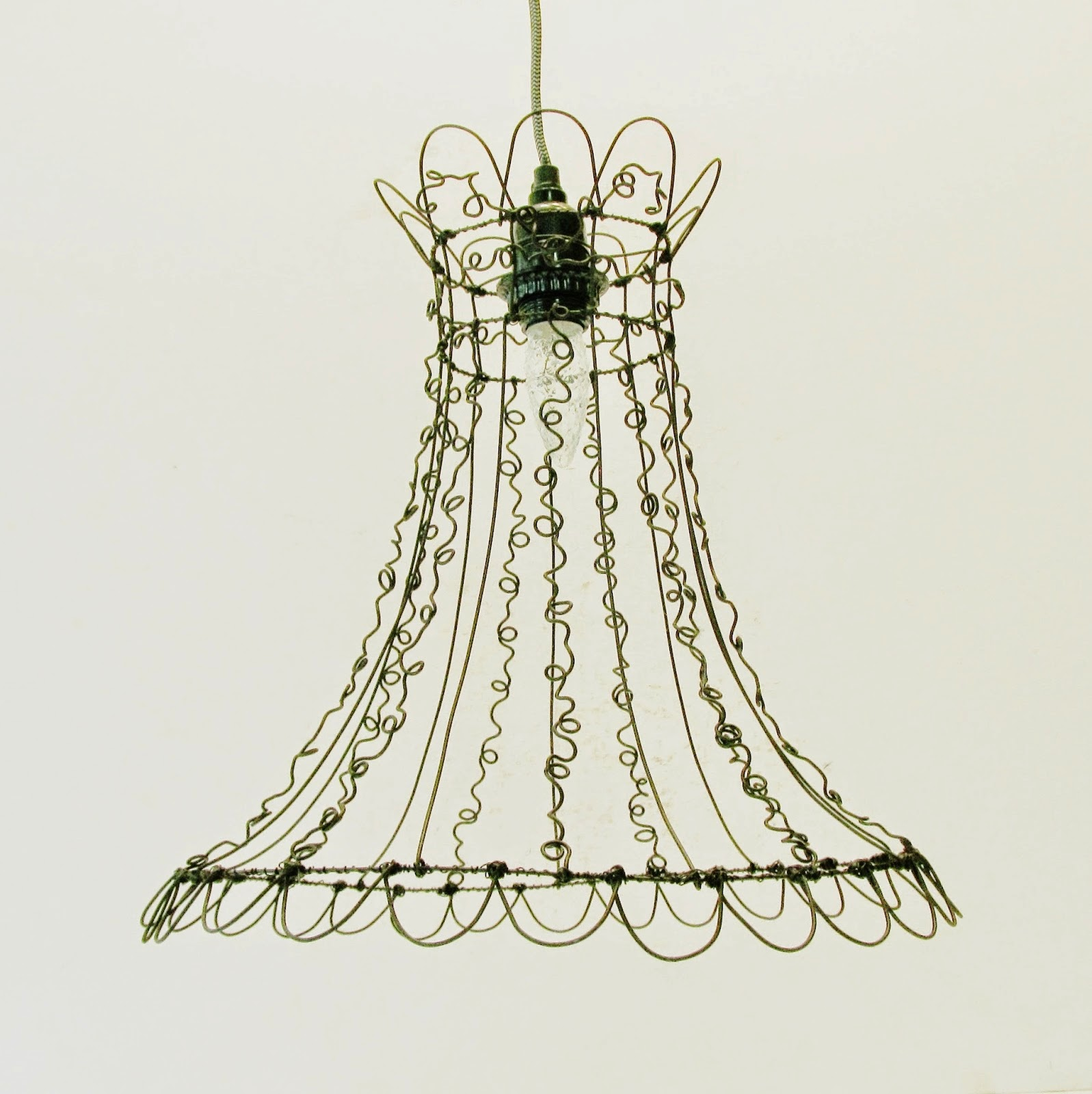 Wire Art Hanging Light