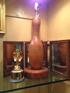 Antique Bowling Pin Lamp at The Pickled Hutch