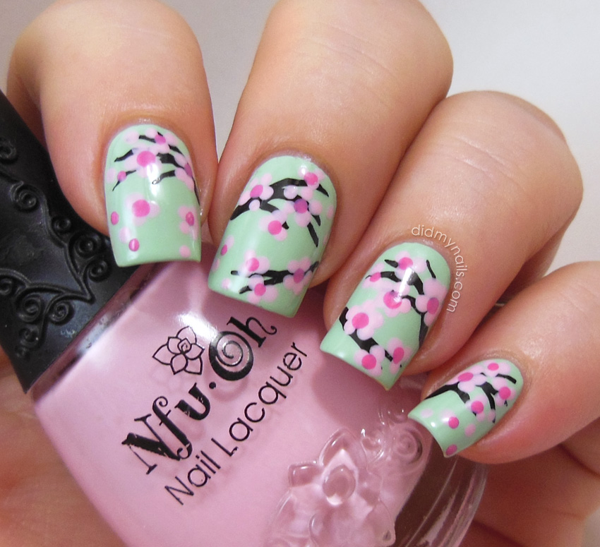 cherry blossom nail art tutorial - Did My Nails: Cherry Blossom Nail Art Tutorial