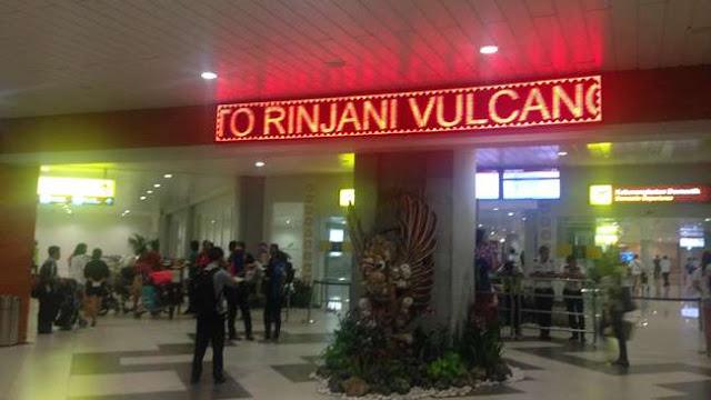 Erupsi Gunung Rinjani, Penerbangan ke Lombok dan Bali di Tutup