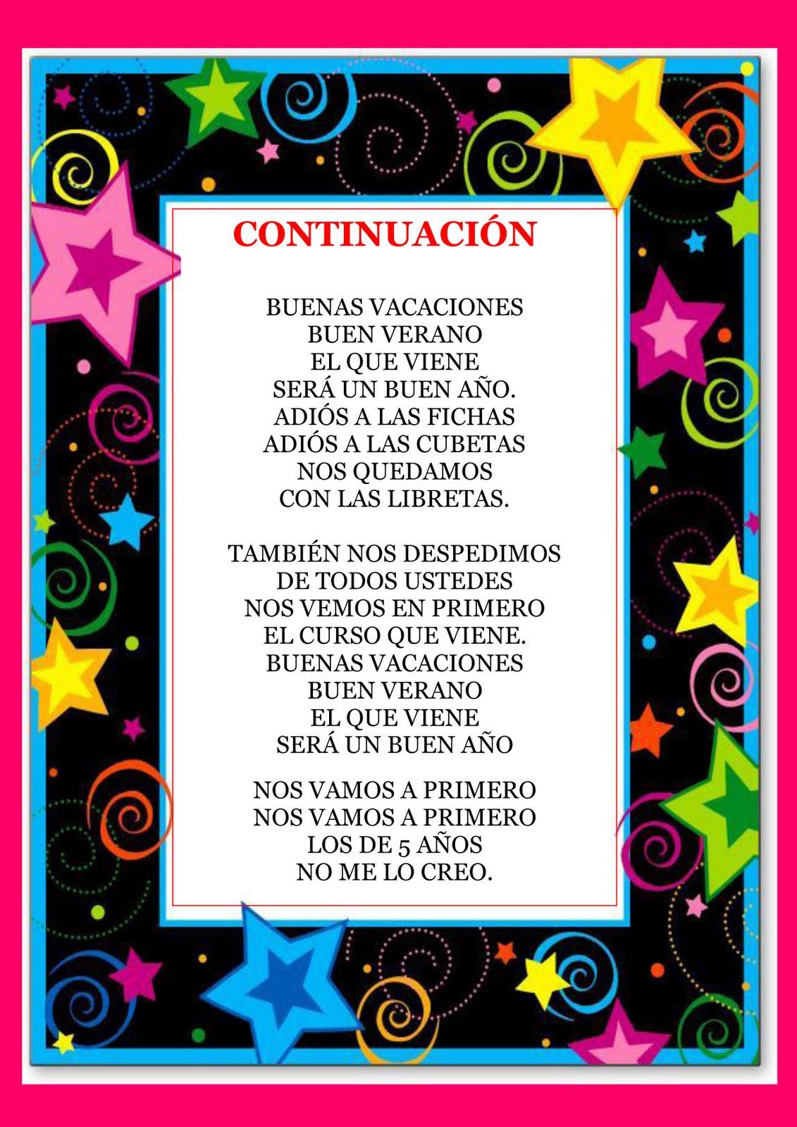RECURSOS DE EDUCACION INFANTIL: CANCIÓN DE GRADUACIÓN ( Melodía de