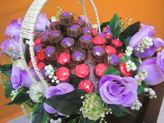 Chocolate Rose Purple Set Hantaran