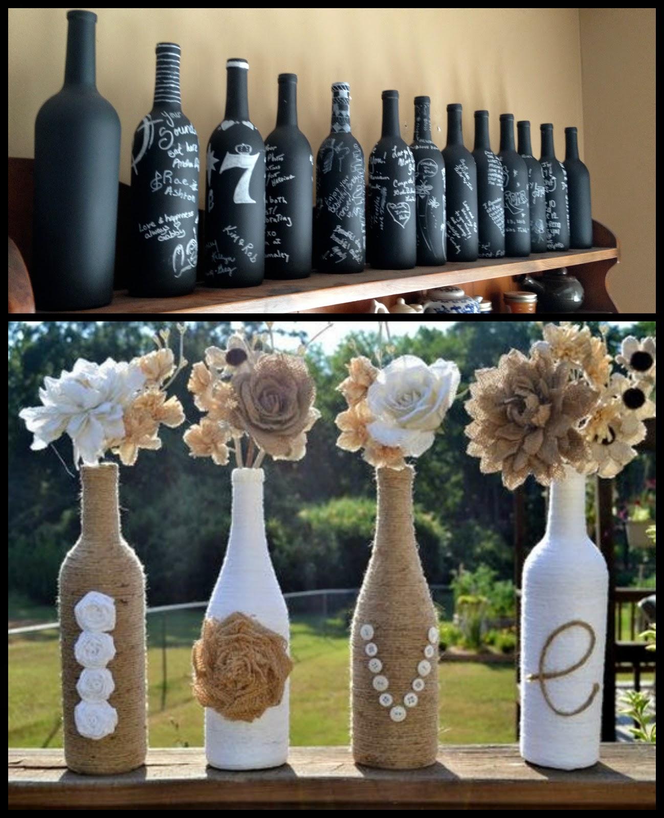 Fľašky ako dekorácia