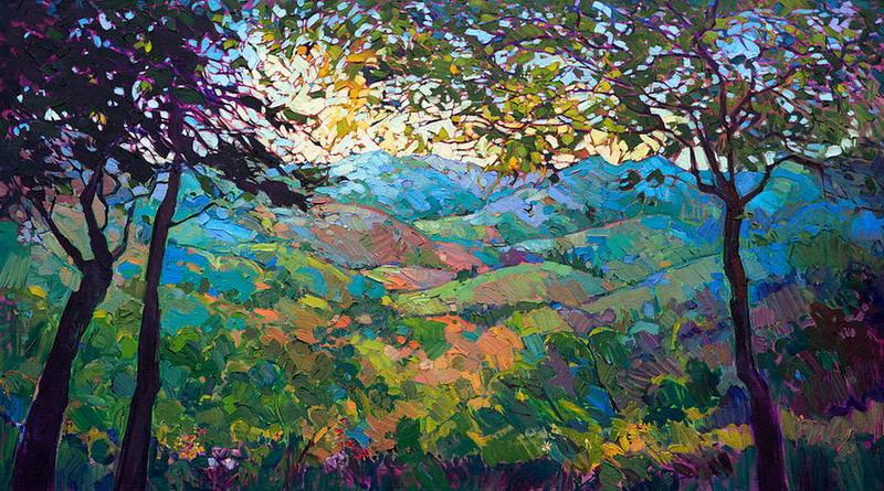 Cuadros modernos pinturas y dibujos obras de arte - Imagenes paisajes otonales ...