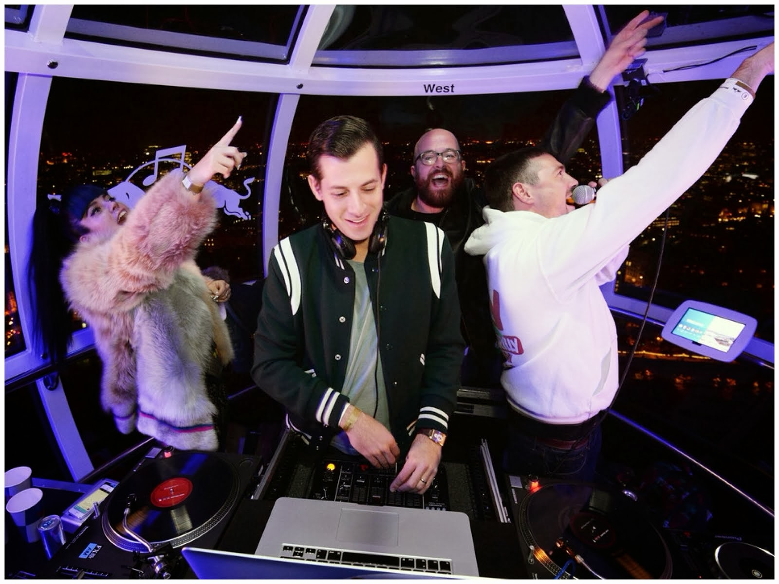 Mark Ronson in Saint Laurent Varsity BomberJacket - Redbull Revolutions in Sound, London