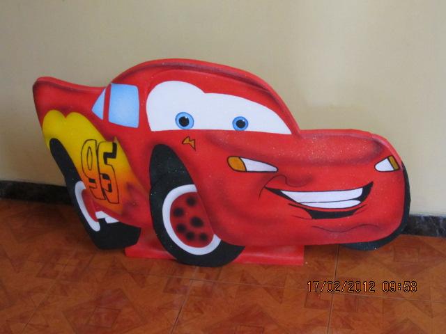 Decoracion Infantil De Cars ~ FIGURAS CARS CON ICOPOR  Revoltosos Recreaciones Recreacionistas