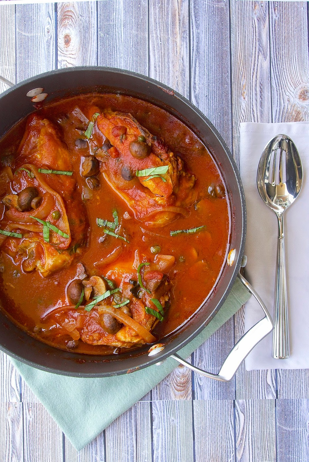 Slow cooked chicken cacciatore - Culinary Ginger