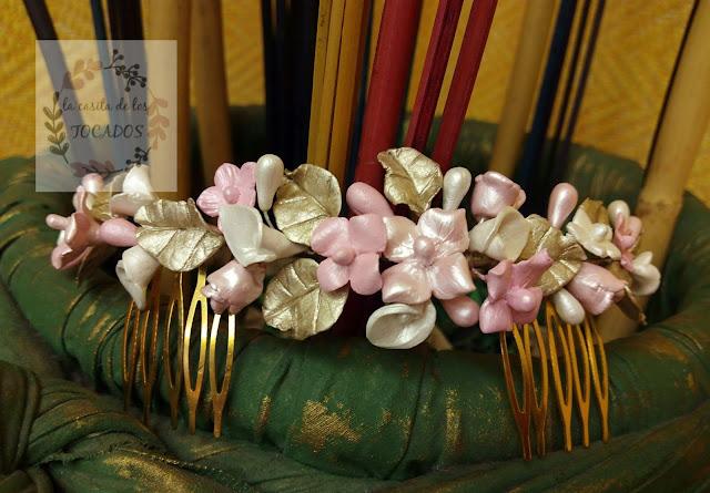 peineta vintage artesanal para novia