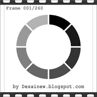 Tutorial atau cara membuat desain animasi loading gif sederhana di gimp dan inkscape