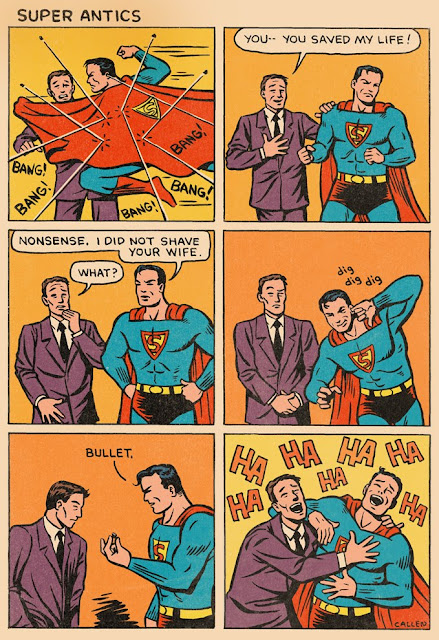 superman comic strip