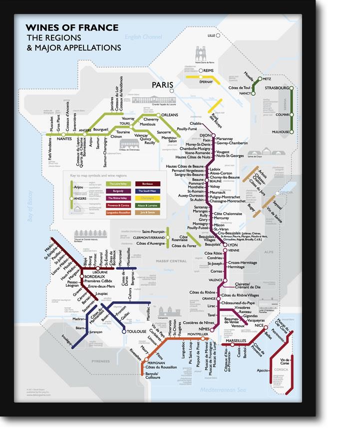 Cadeau de dernière minute : la carte des vins de France – BOH